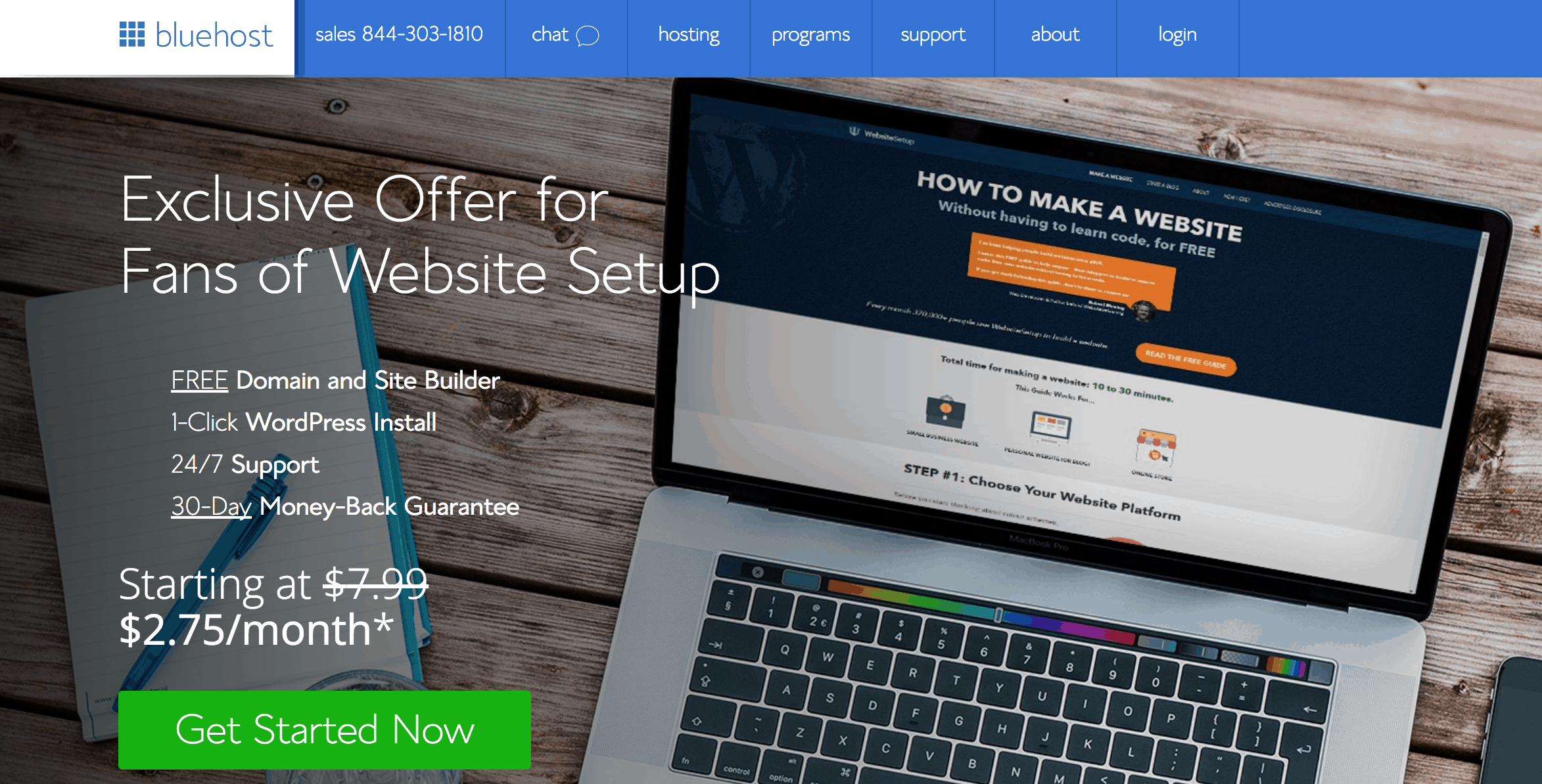 create free professional website