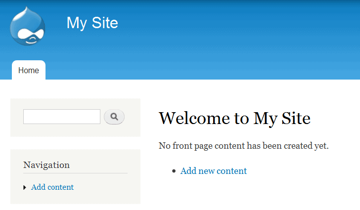This is your default site name after installation