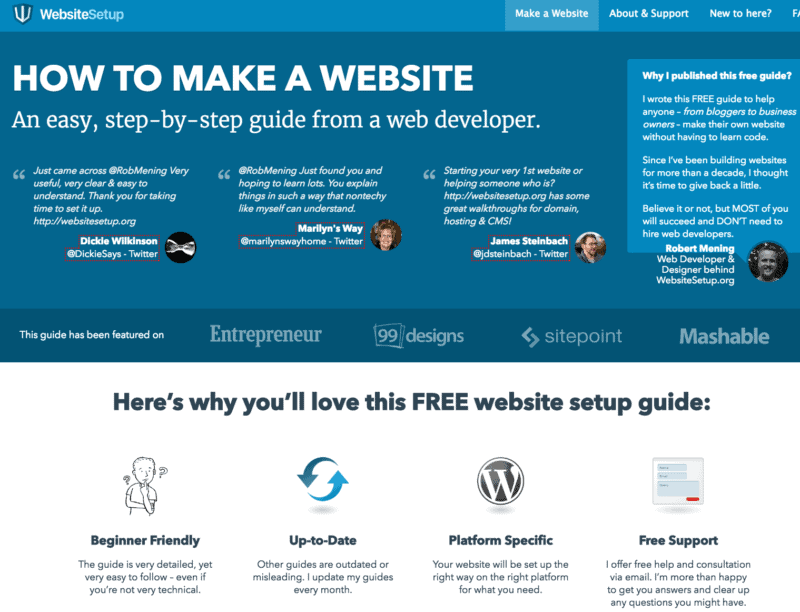 How To Make A Website Step By Step Guide For Beginners: build easy website
