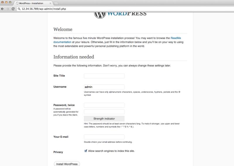 Installing WordPress Manually