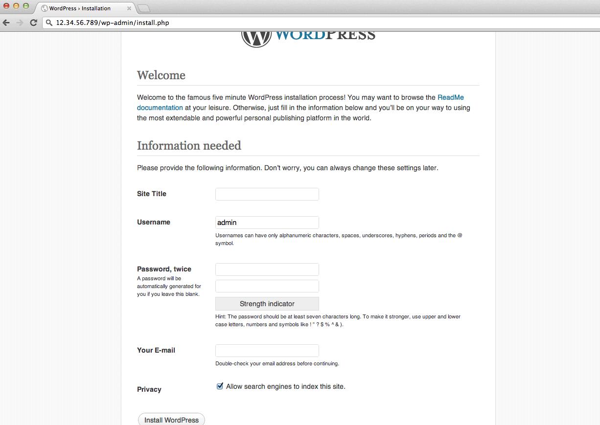 WordPress_website_manual_install