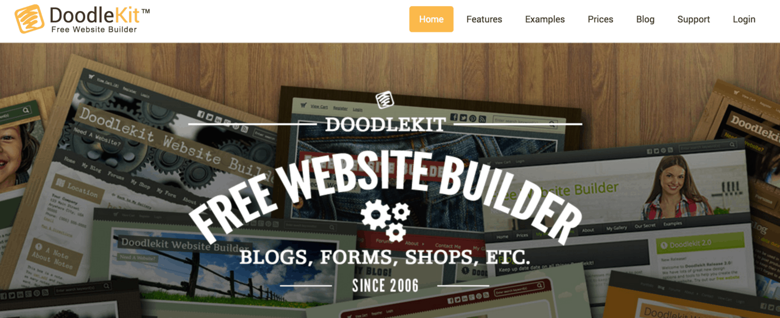 Doodlekit website builder