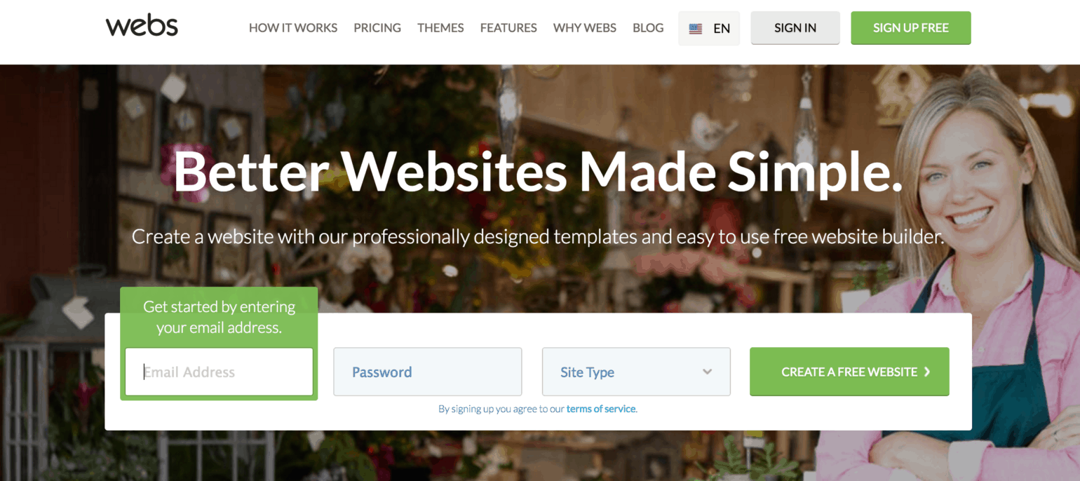 Website Builder: Webs.com