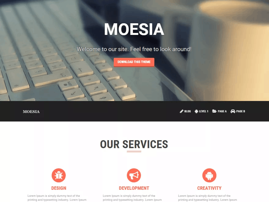 30 best free wordpress themes blog business portfolio moesia wordpress theme pronofoot35fo Gallery