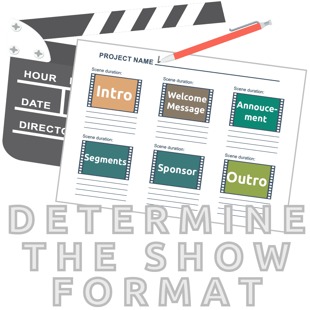 Determine podcast format