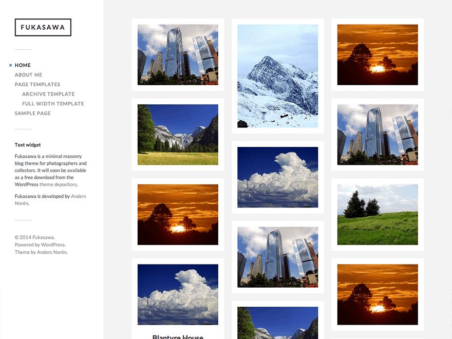 Fukasawa Photography Theme