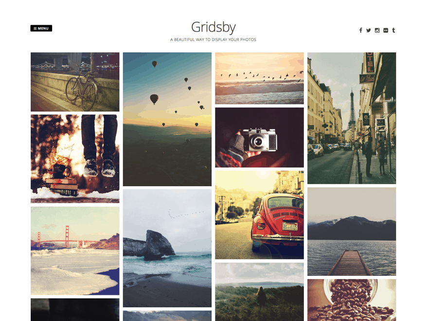 Gridsby Photography Theme