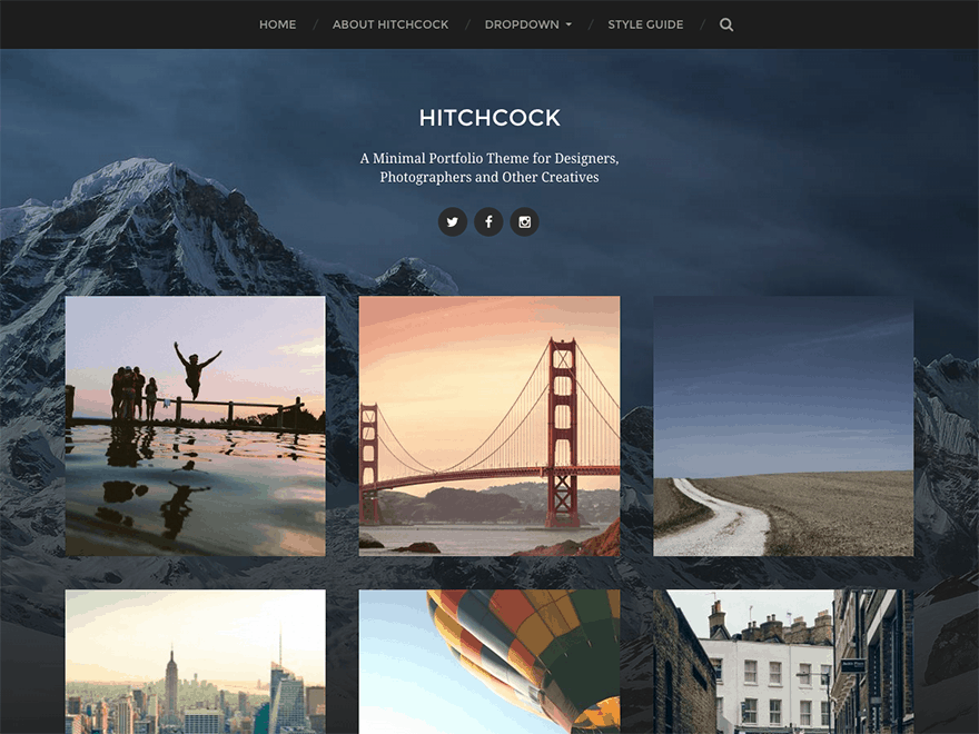 30 best free wordpress themes blog business portfolio hitchcock photography theme pronofoot35fo Images