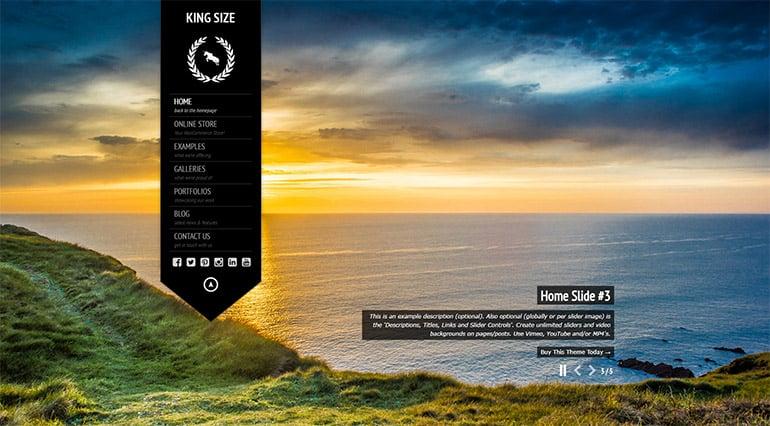 KingSize Best Premium Photography WordPress Theme Demo