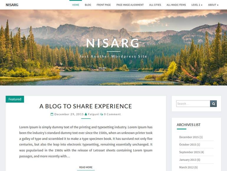 Nisar Blog Theme