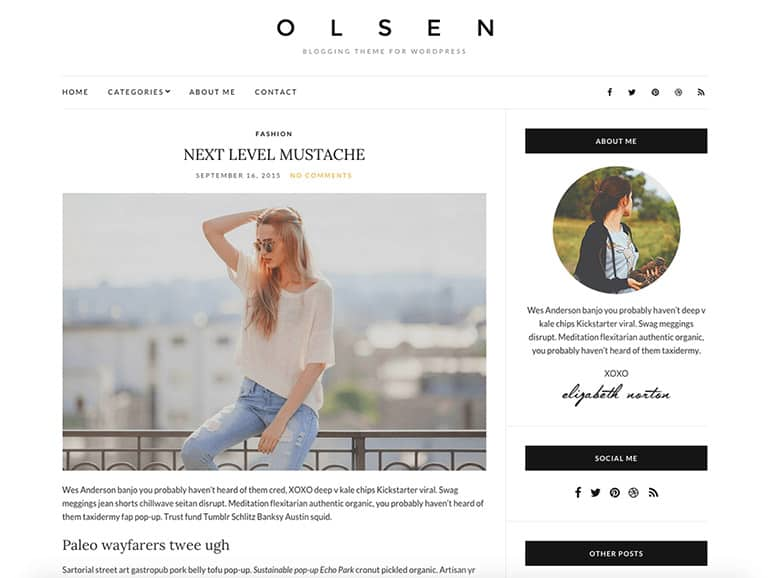 Olsen Light Blog Theme