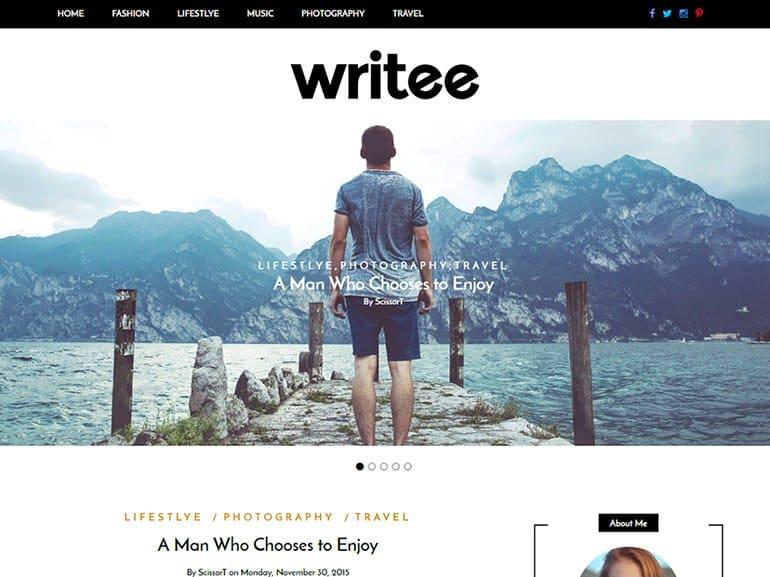 Writee Blogging Theme