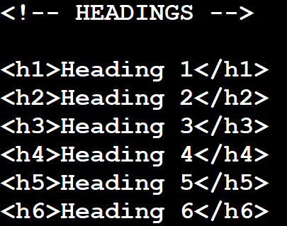 creating headings in html