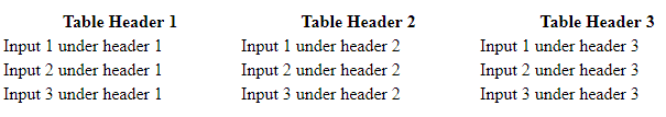 table example 2