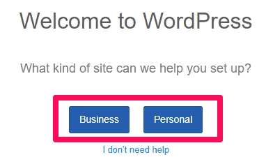 Bluehost WordPress Business or Personal
