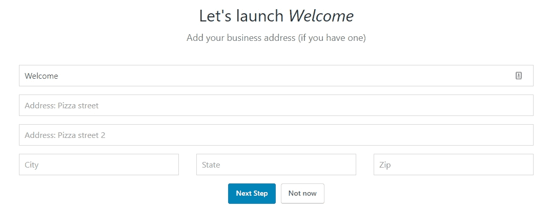 Bluehost WordPress add business address