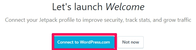 Bluehost WordPress connect Jetpack