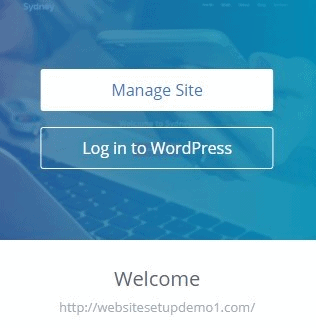 Bluehost WordPress manage site