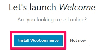 Bluehost Install WooCommerce launch