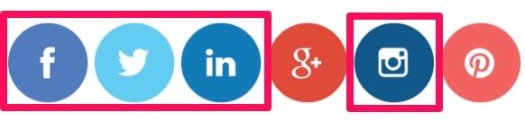 social media logos in blue