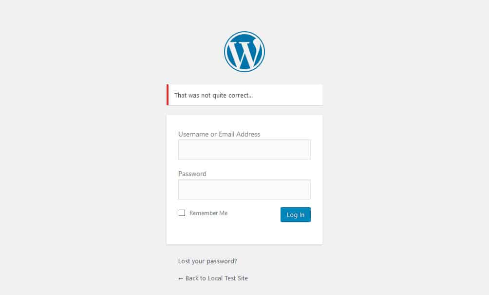 change login message to increase wordpress security