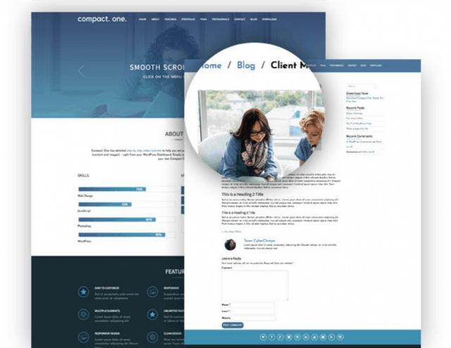 30 best free wordpress themes blog business portfolio compact one free one page parallax wordpress theme wajeb Image collections