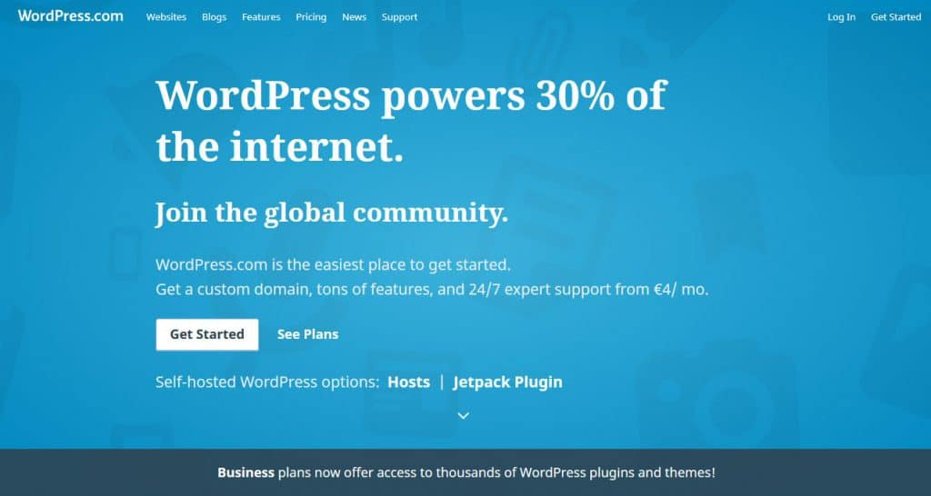 wordpress com homepage