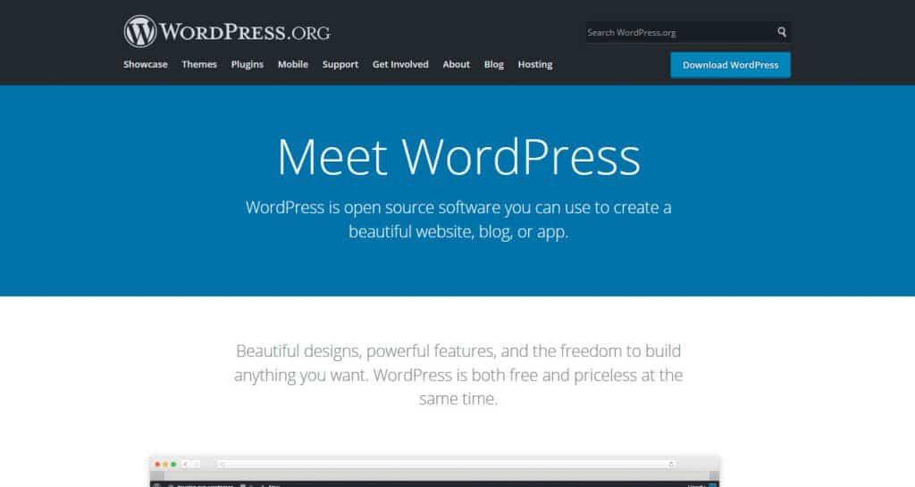 wordpress org homepage