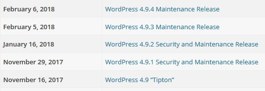wordpress org releases