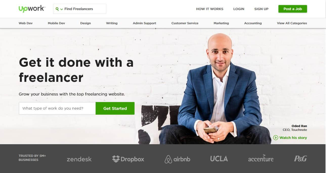 hire a web developer from upwork