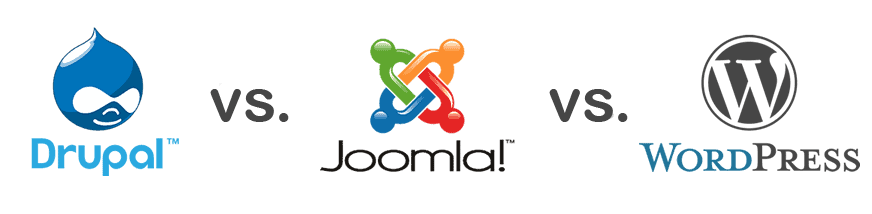 drupal vs joomla vs wordpress