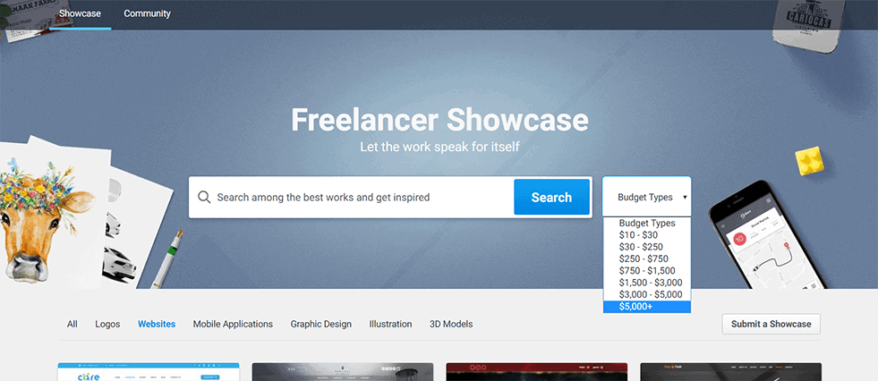 freelancer showcase
