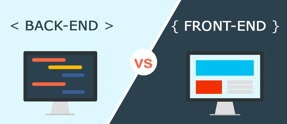 fornt-end developer vs back-end developer