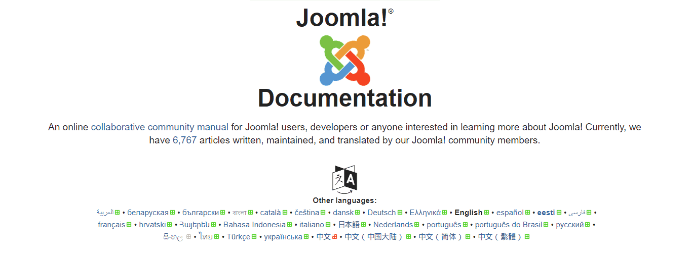 joomla documentation