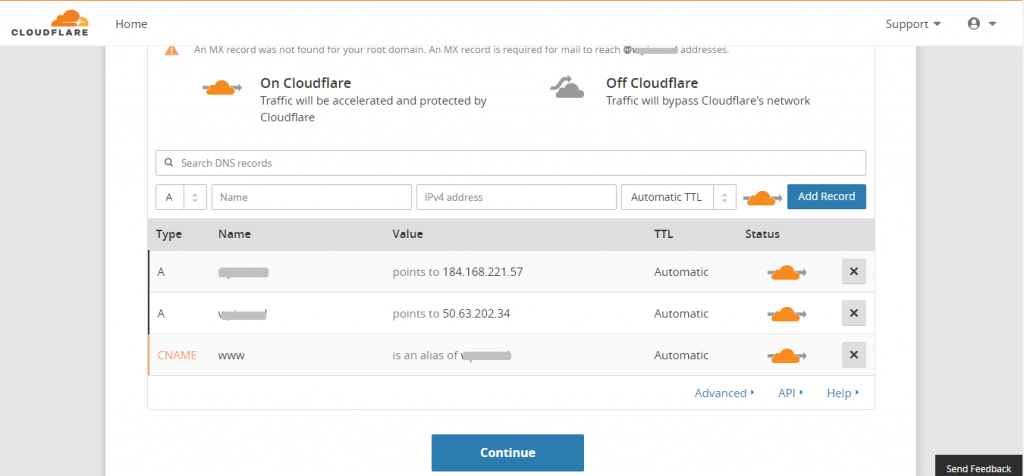 CloudFlare DNS Scan