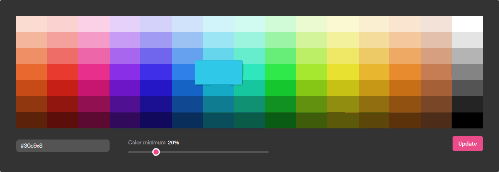 Dribbble color search to generate color scheme ideas