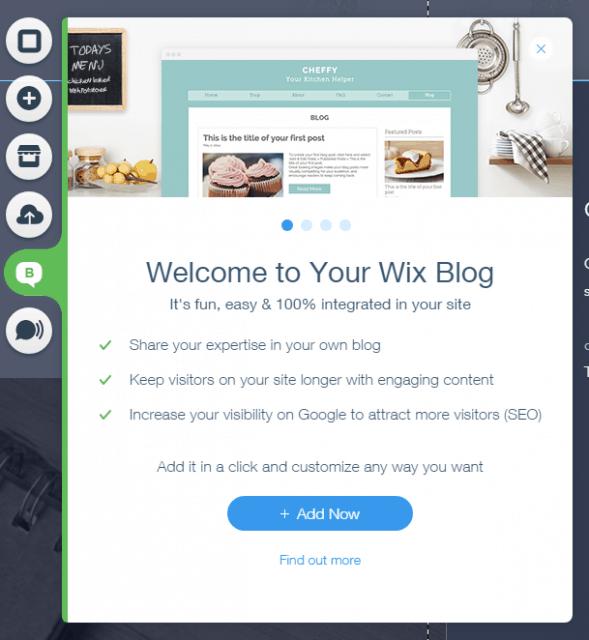 adding a wix blog