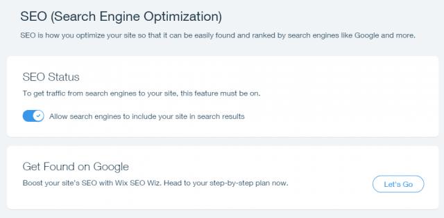 wix seo status page