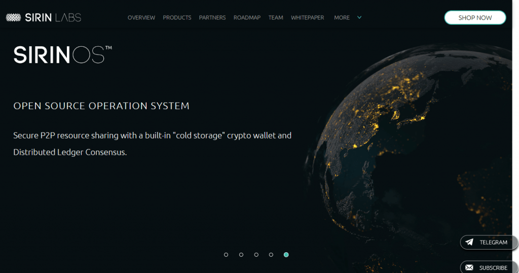 Sirin Labs frontpage