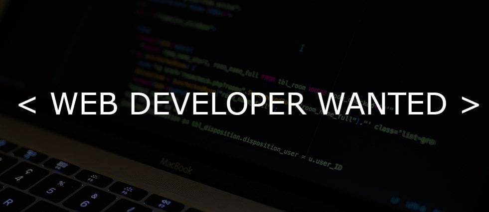 web developer wanted ad