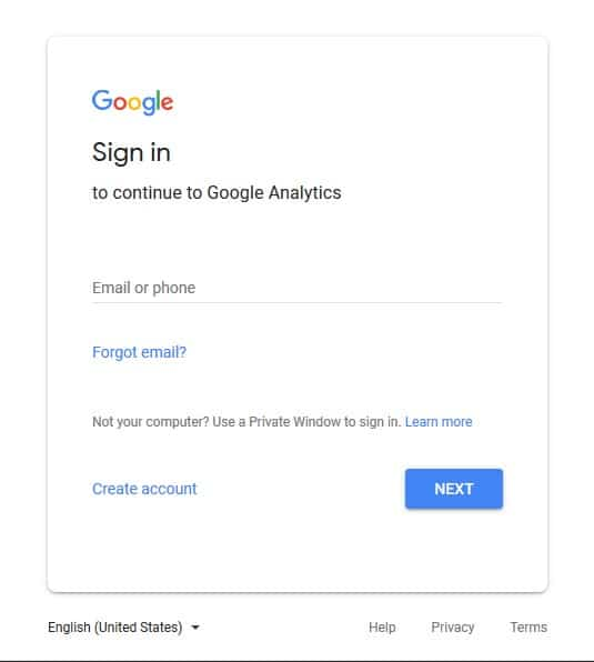 Signin to your Google account