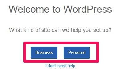 WordPress Website Type Option
