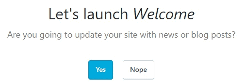 WordPress Setup - Let's Launch Welcome