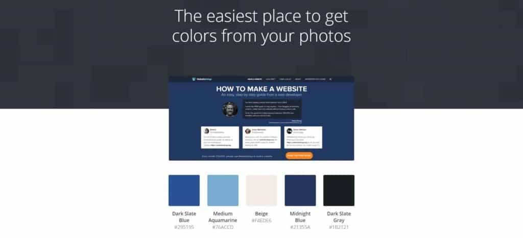 Canva Color Palette Generator interface