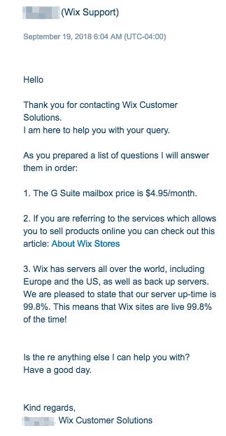 Wix Live Chat