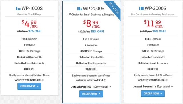 inmotion wordpress hosting pricing