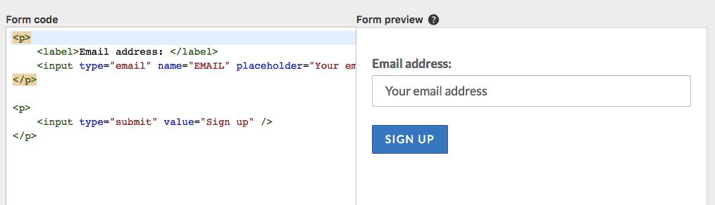 default form