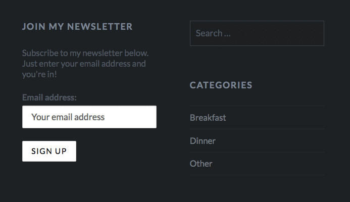 live newsletter form