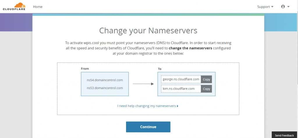 CloudFlare nameservers