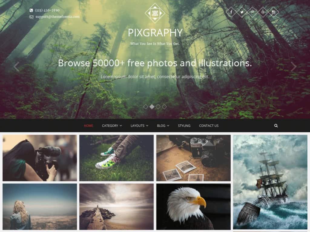 Pixgraphy Photography Theme